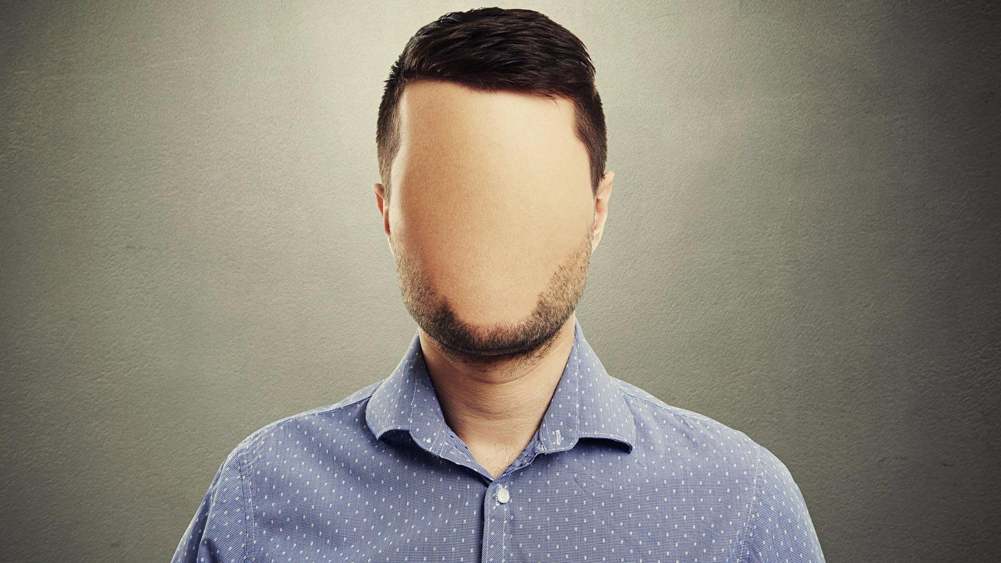 Фото голова мужика без лица крупным